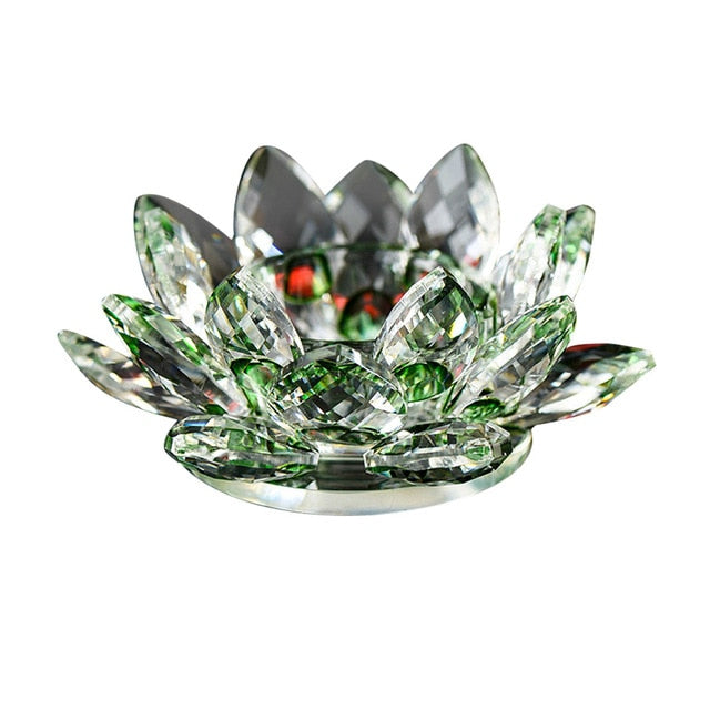 Crystal Lotus Flower Candle Holders