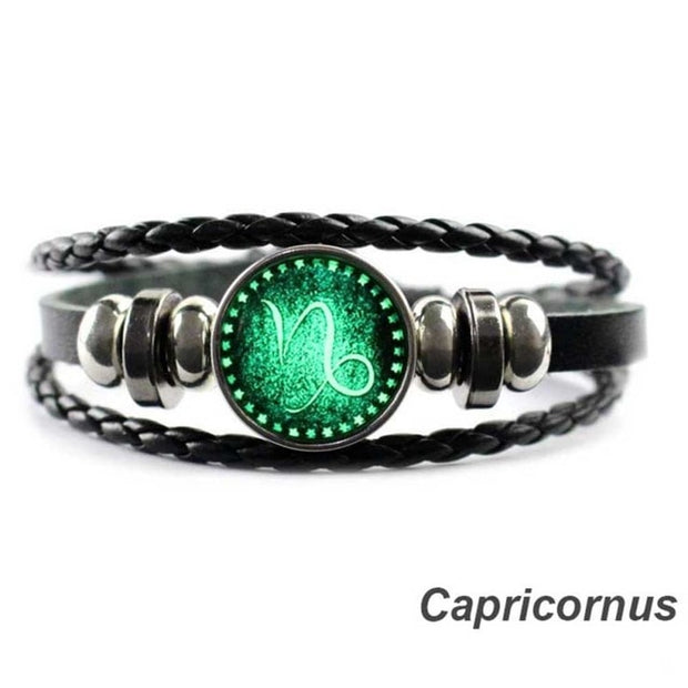 Zodiac Vintage Leather Bracelet
