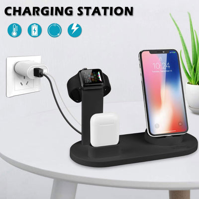 3 in 1 Charging Dock For Apple Watch & iPhone