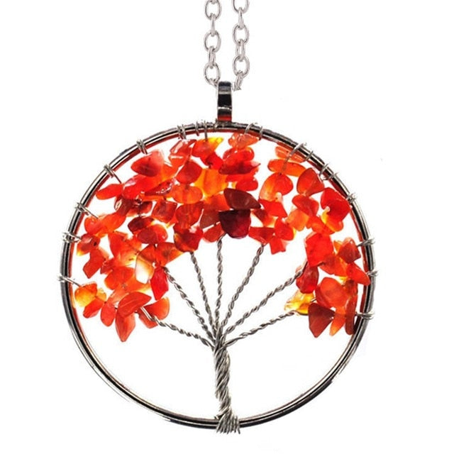 Natural Stone Tree of Life Necklaces