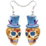 Sugar Skull Acrylic Earrings
