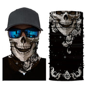 Skull Design Neck Gaiter Face Cover