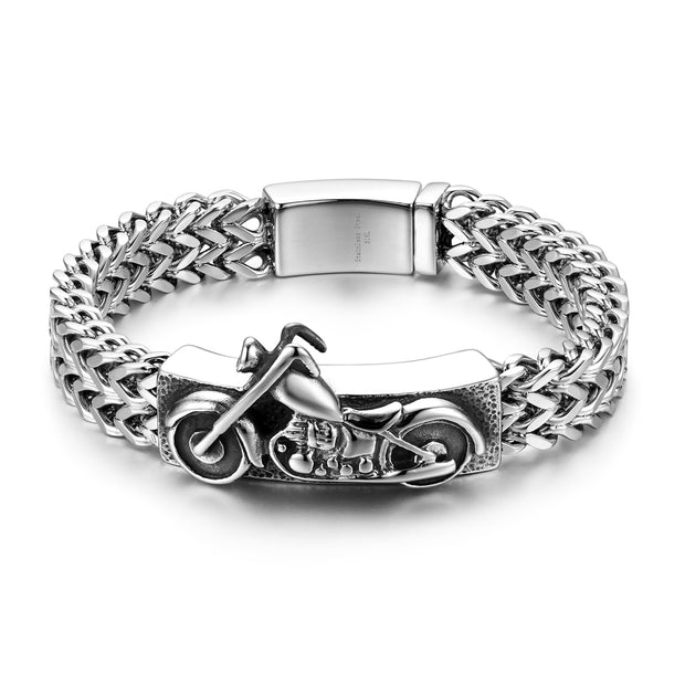 Motorcycle Bangle Style Bracelet