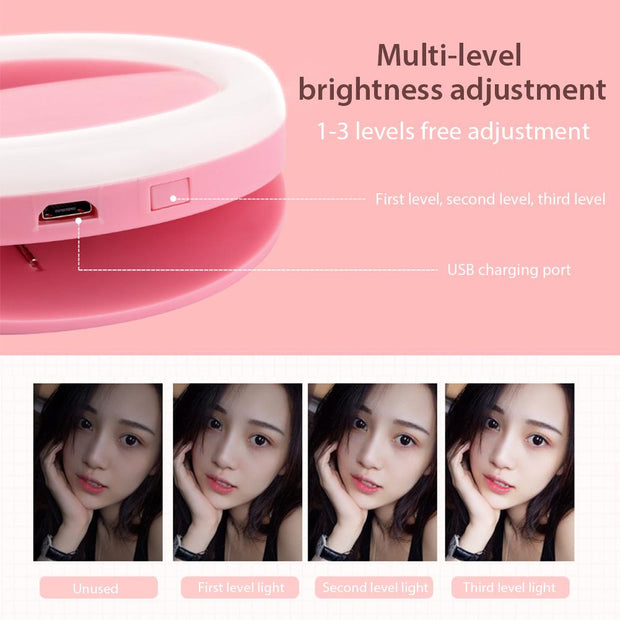 Selfie LED Ring Light For iPhones