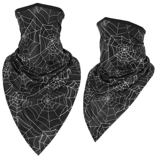 Ice Silk Neck Gaiter Cover Anti-UV Smooth Breathable Headband Men Women Triangle Bandana Face Scarves Hanging Ear Tube Scarf