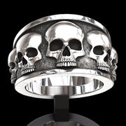 Retro Punk Men's Skull Ring