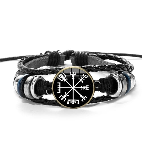Viking Compass Multilayer Bead Bracelet
