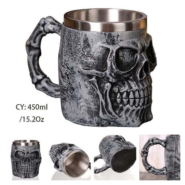 Resin & Stainless Steel Beer Mugs - Sells Out Fast!