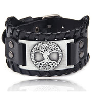 Viking Wide Leather Men's Bracelet
