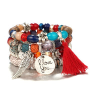 Four Layer Vintage Charm Bracelets