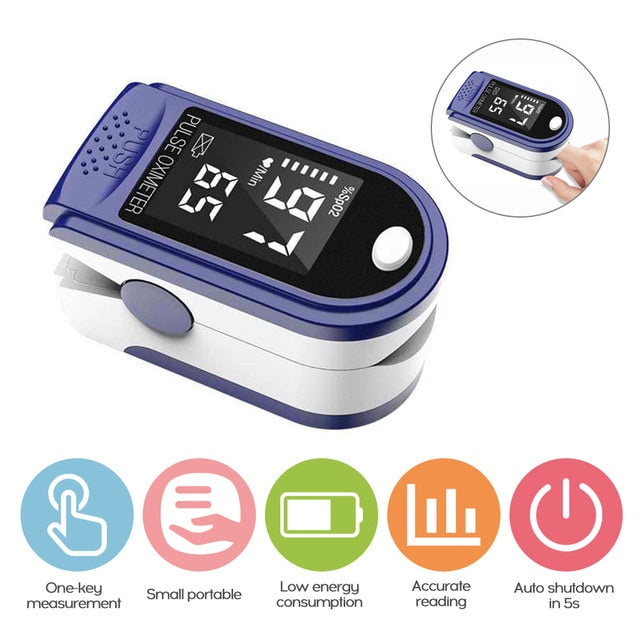 Blood Oxygen Monitor Finger Oximeter
