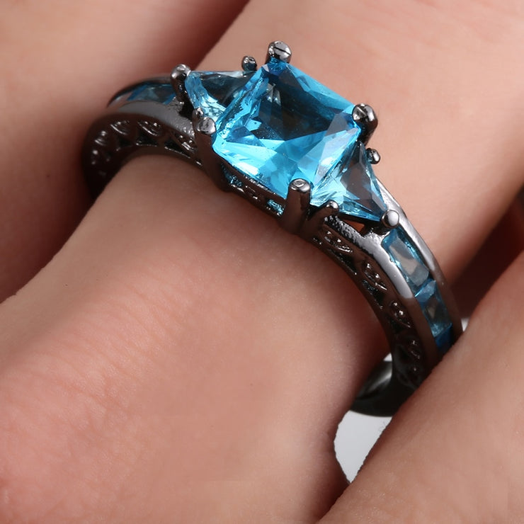 Blue Crystal Ring For Women