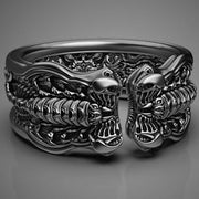 Black Scorpion Engraved Men's Ring