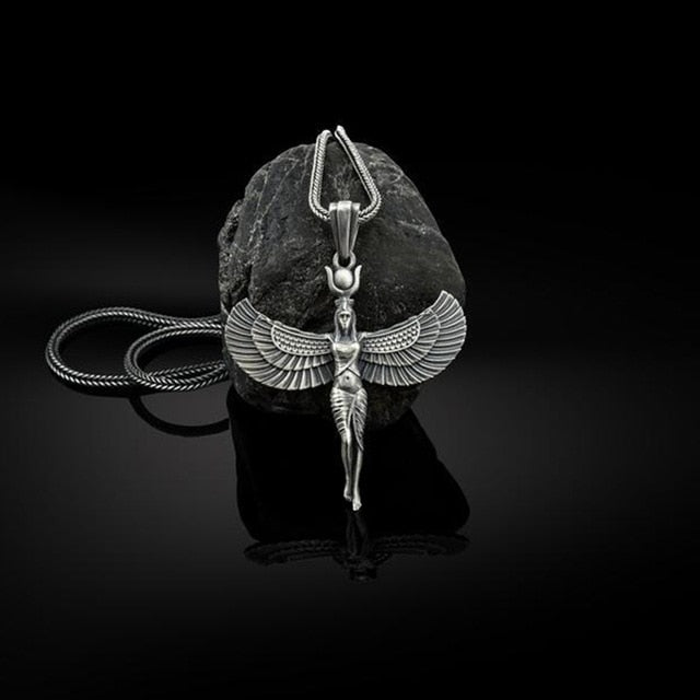 Winged Egyptian Goddess Isis Necklace