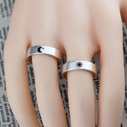 Moon & Star Stainless Steel Ring Band