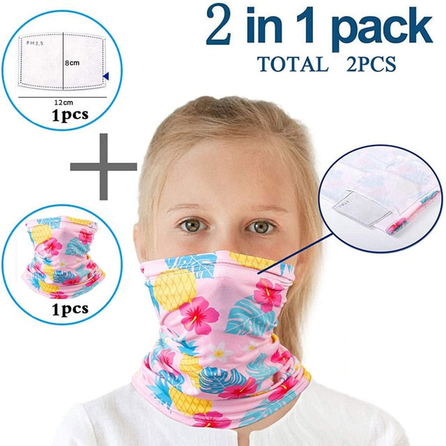 2 in 1 Kids Neck Gaiter And Filter