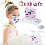 10/20/50/100pc Disposable Face Covers For Kids