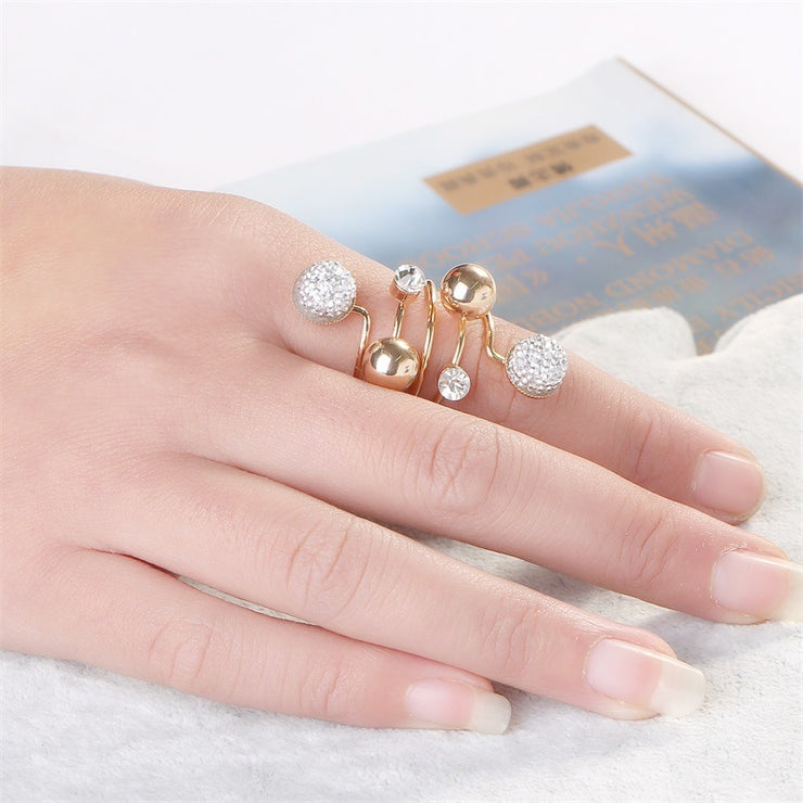 Crystal & Rhinestone Ring Collection