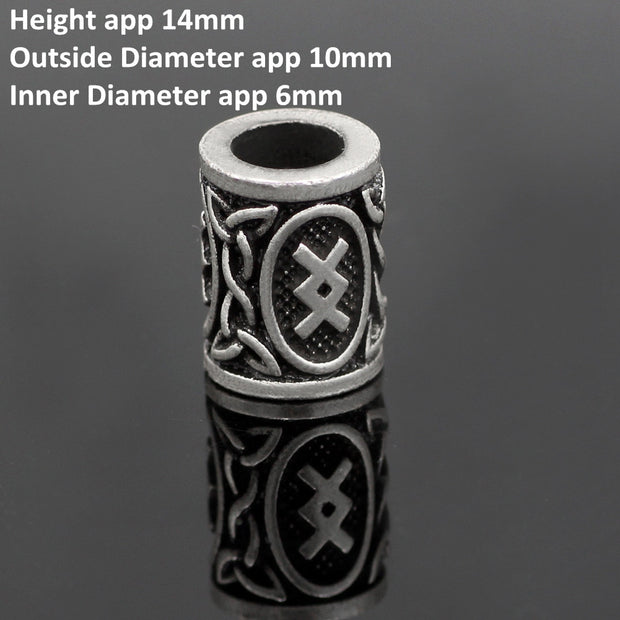 Viking Rune Hair Beads