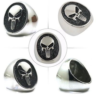 Punisher Stainless Steel Men's Ring