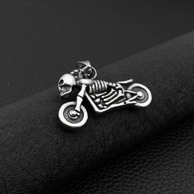 Skeleton Motorcycle Necklace