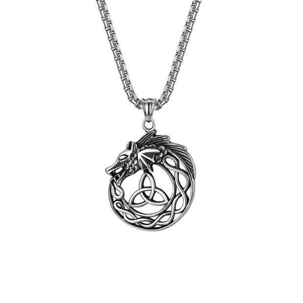 Celtic Knot Dragon Necklace