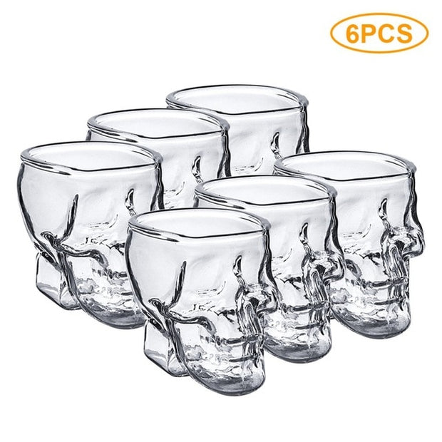 Skull Shaped Shot Glasses Set