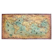 Vintage Nautical Ocean World Map Poster