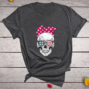 Rockabilly Skull Punk T Shirt