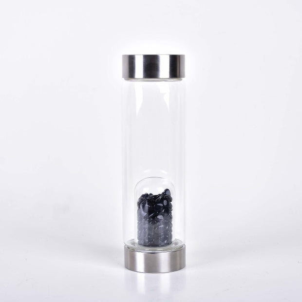 Healing Crystal Infused Water Bottle