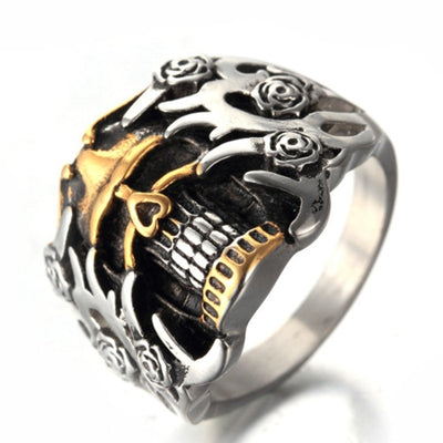 Gear Punk Skull Ring