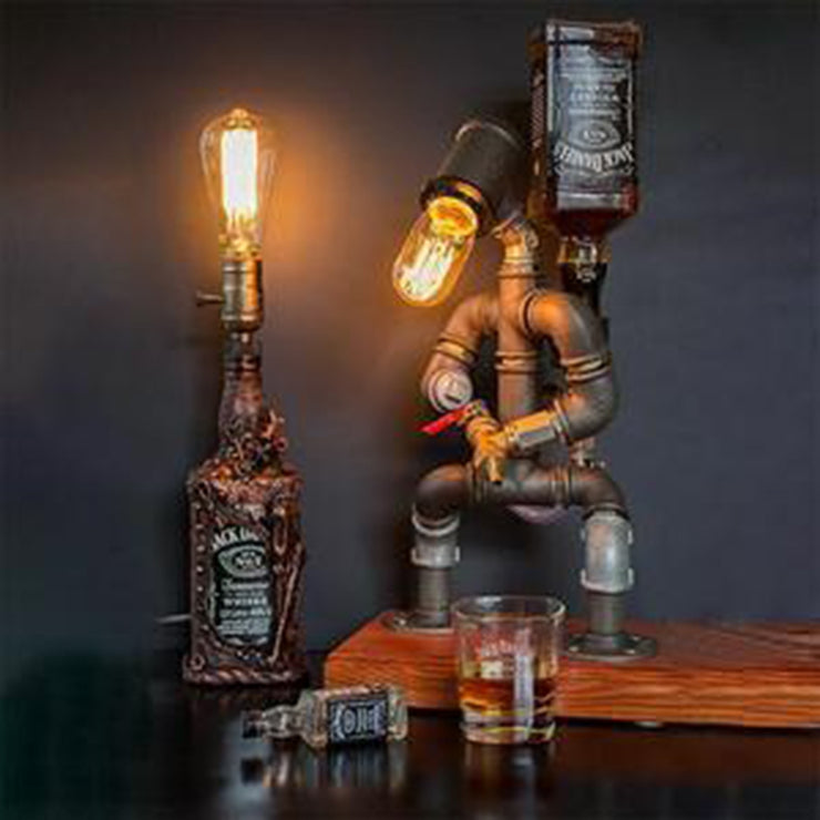 Steampunk Industrial Lamp Wine Dispenser
