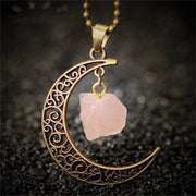 Moon Crystal Pendant Necklaces
