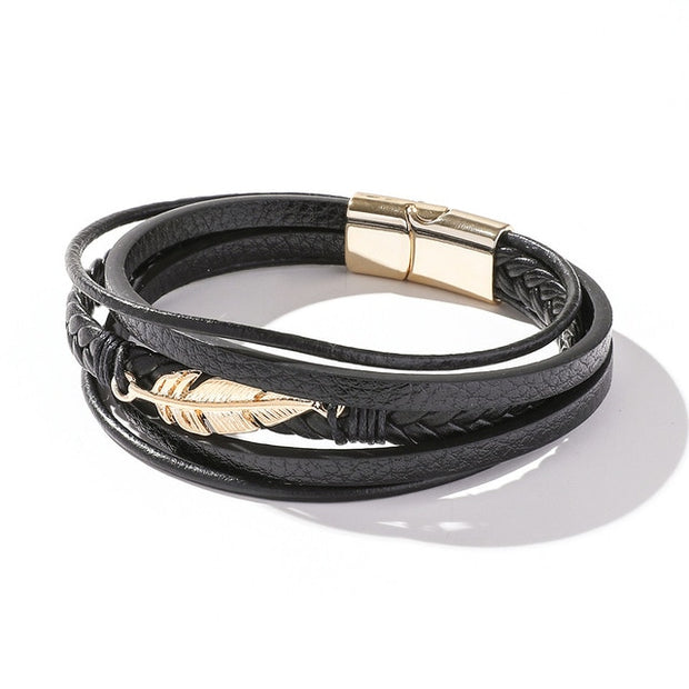 Men's Leather Wrap Bracelet Collection