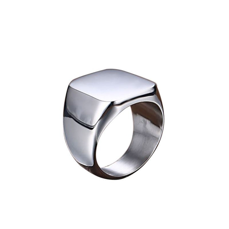 Retro Solid Color Rings for Men
