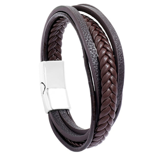 Multi-Layer Leather Braided Bracelets
