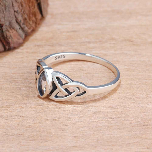 Sterling Silver Celtic Knot Women's Ring