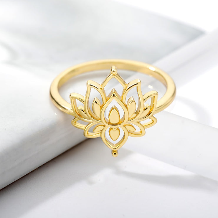 Lotus Flower Ring Collection