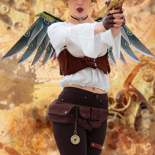 Mechanical Wings Prop: Steampunk Costume Accessories For Kids And Adults