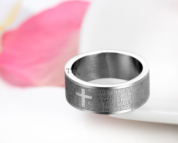 Lord's Prayer Men's Stainless Steel Ring