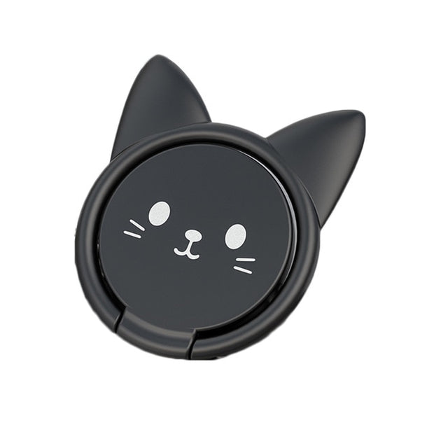 Happy Cat Finger Rings For Smartphones