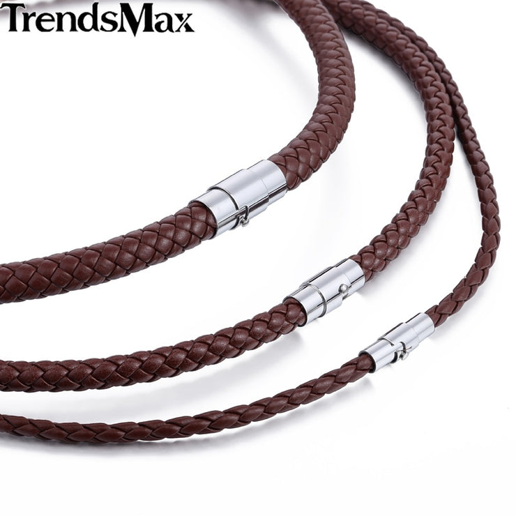 Classic Men's Leather Rope Necklace
