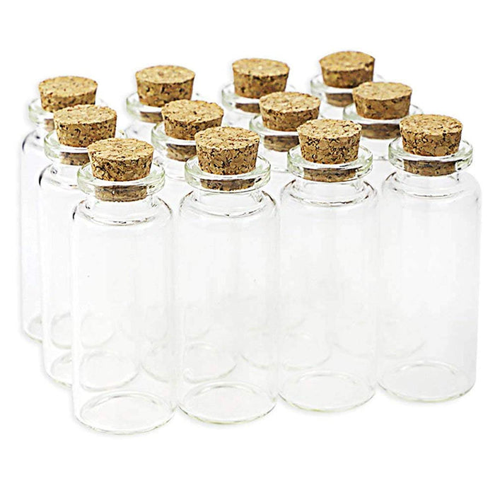 20PCS 5ml Cork Stopper Small Glass Bottles