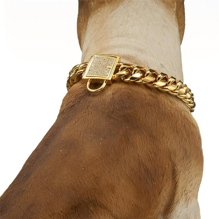DoggyBling - Gold Dog Chain