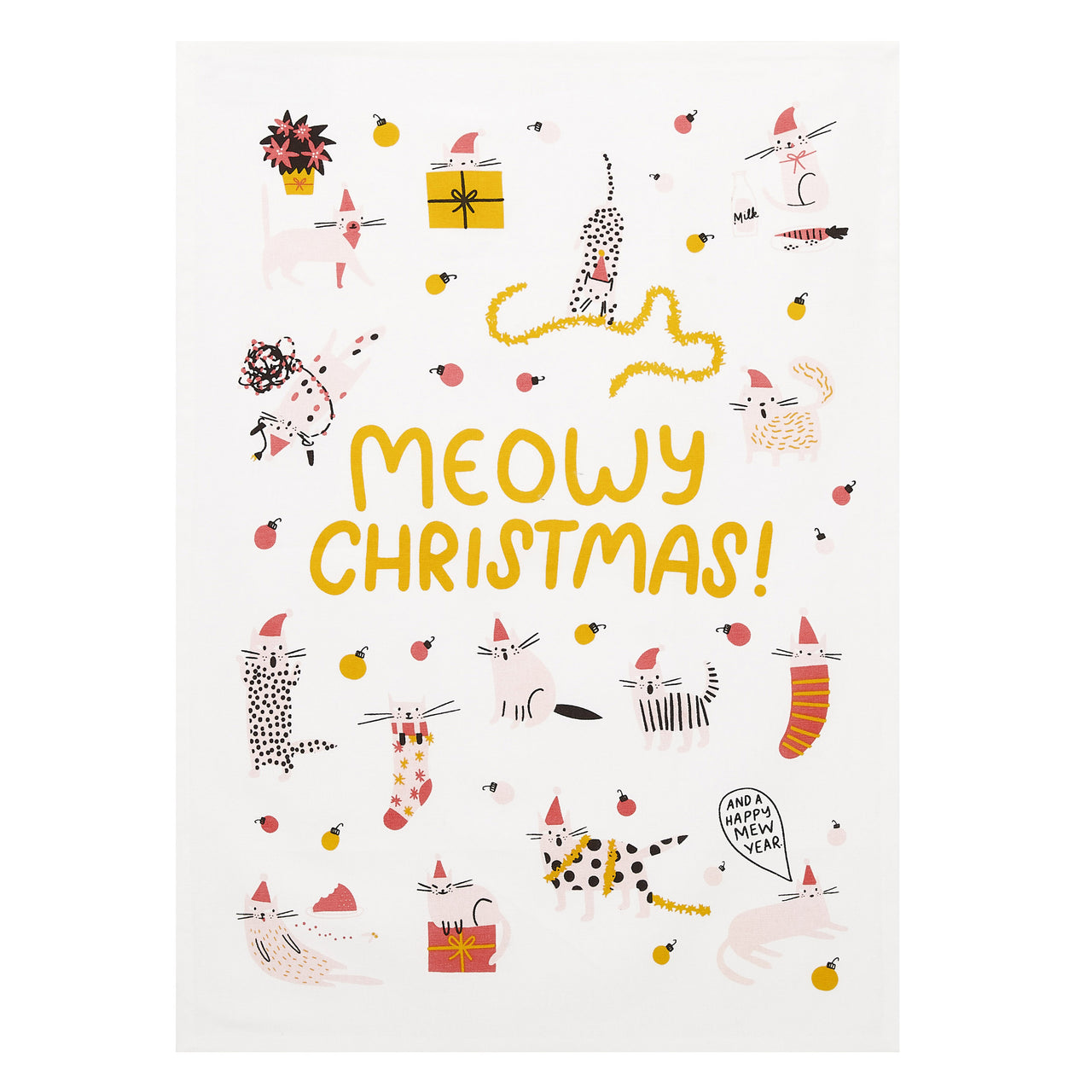 Meowy Christmas Kitchen Towel (Set of 2)