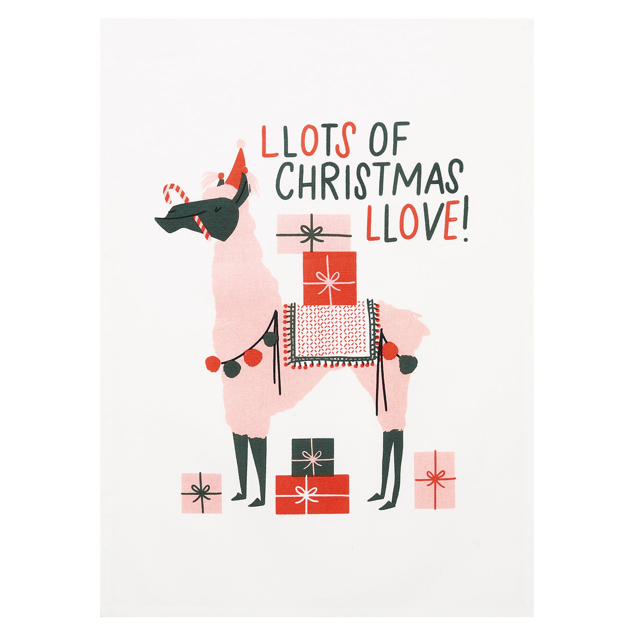 Llama Christmas Love Kitchen Towel (Set of 2)