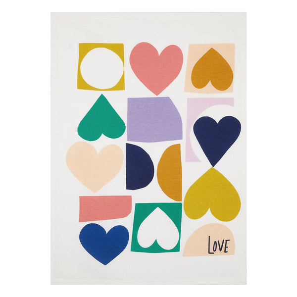 Love Hearts Kitchen Towel