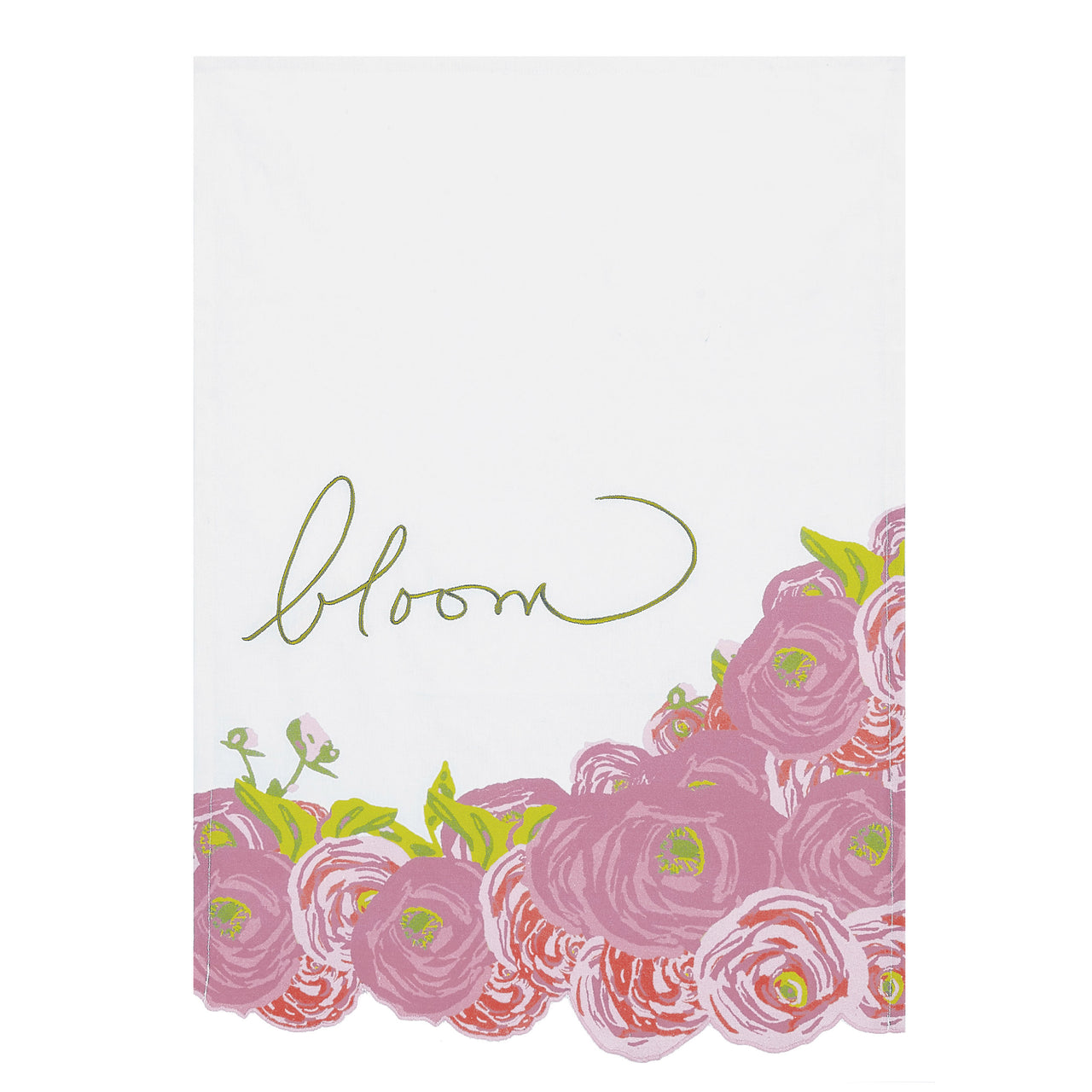 Pink Flower Kitchen Towel