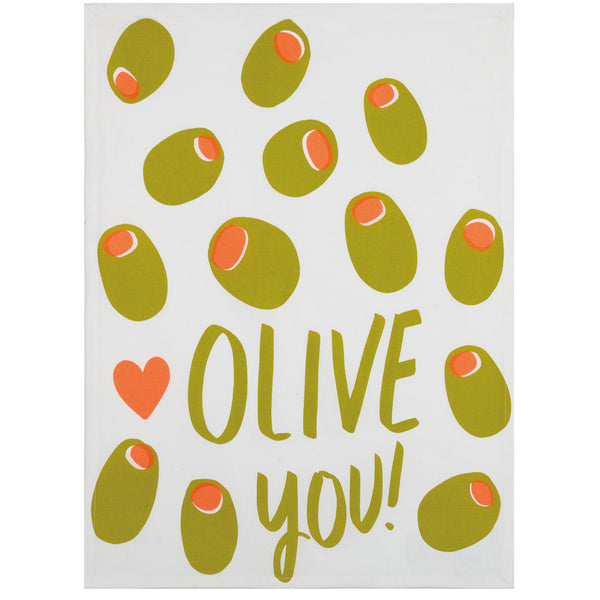 Olive You Kitchen Towel (Set of 2)
