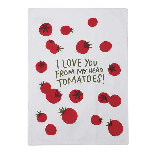 I Love You Tomato Kitchen Towel (Set of 2)